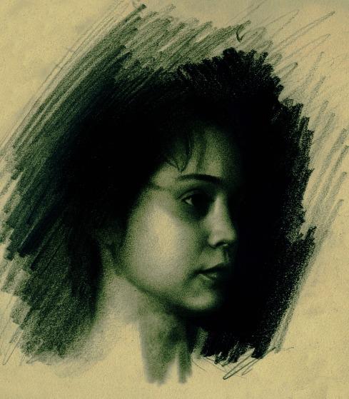 Teresa, pencil drawing