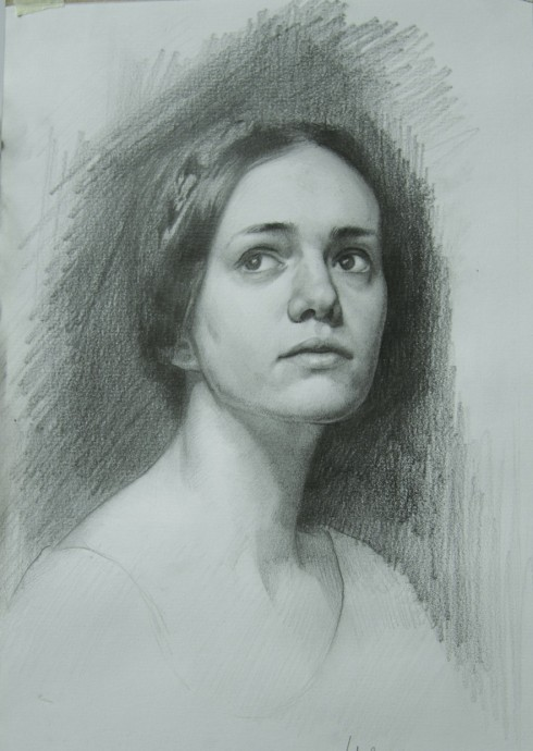 """10""""x16"""" Pencil on Canson paper"""